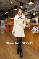 The new coat fall 2013 long women windbreaker in han edition cultivate one's morality cloth coat/coat