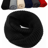 Autumn and winter yarn scarf muffler tidal current male roll-up hem yarn pullover collars lovers knitted muffler scarf