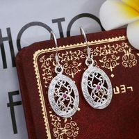 Wholesale! 925 Sterling silver earring. high quality silver fashion jewelry. 925 silver fine zircon for women earrings E408