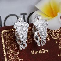 Wholesale! 925 Sterling silver earring. high quality silver fashion jewelry. 925 silver fine zircon for women earrings E389