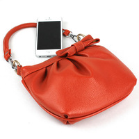 2013 fashion lady bow handbag, fold bags, candy colored handbags. Free Shipping, T170