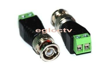 10 x Coax CAT5 To Camera CCTV BNC Video Balun Connector EA001
