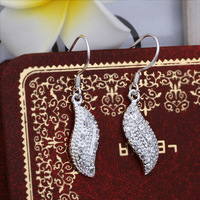 Wholesale! 925 Sterling silver earring. high quality silver fashion jewelry. 925 silver fine zircon for women earrings E378