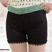Double layer lace shorts pants safety pants basic shorts seamless spring and summer women's