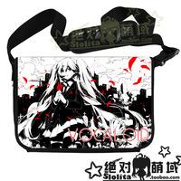 Hatsune Miku high quality messenger bag laptop bag casual bag patent leather shoulder bag free shipping