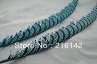 Free shipping 50pcs/lot 30-35inch Costume feather Light Blue Lady Amherst Pheasant Tail Feathers pheasant feather