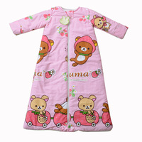 Baby baby sleeping bag child sleeping bag autumn and winter summer thin big boy anti tipi lengthen plus size