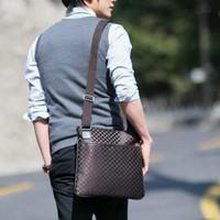 Fashion PU han edition box professional men's bags business case grain recreation bag bag shoulder briefcase  Free shipping