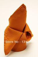 100pcs Burnt Orange  Polyester Plain Napkin 50x50cm ,Table Napkin For Weddings Events &Party&Restaurant &Hotel