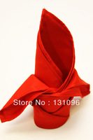 100pcs Red Polyester Plain Napkin 50x50cm ,Table Napkin For Weddings Events &Party&Restaurant &Hotel