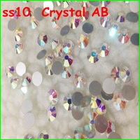 $3.99 1440pcs/pack SS10 Non Hotfix Flat Back Rhinestones Crystal AB Color Nail Art Flatback Crystal non-hotfix