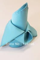 100pcs Blue Polyester Plain Napkin 50x50cm ,Table Napkin For Weddings Events &Party&Restaurant &Hotel