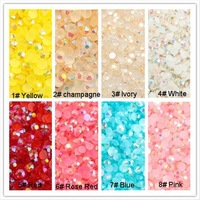 Free Shipping 2000 pcs 3mm Flatback Rhinestones wholesale in Acrylic Material ab Color