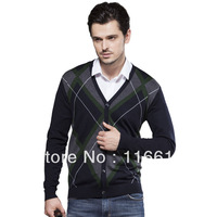 The newest  men sweater  woollen sweater  V_Neck,light gray ,drak grar color,M-XL(MMY0001)
