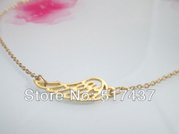 Wholesale Necklaces 14K Gold Angel Wing Charms Pendants Necklace For Women