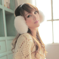 2012 autumn and winter thickening all-match thermal faux earmuffs ear muffs female plush