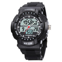 Outside sport watch mens watch large dial running multifunctional waterproof led electronic watches