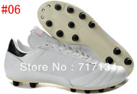 2014 World Cup White Soccer Shoes for Men's Outdoor Ball Cleats Firm Ground Sole Team Sports Shoe 7Colors Mix Order Cheap sale
