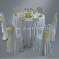 "White Hotel table cloth/Round table cloth/120"" Polyester table cloth for wedding"