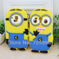3D Despicable ME Minion Silicone Cell Phone Case Cover For Samsung GT-i8190 Galaxy S3 Mini