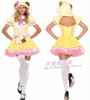 Halloween alice yellow cat maid equipment maid service ds cosplay costume