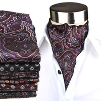 Free Shipping New Arrival Nobility Fashion Male Double Faced Silk Print Silk Scarf Cravat Male Fashion Gift