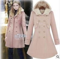 2013 new winter coat Slim was thin woolen coat long section of women's winter coat #8426