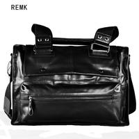 High quality sheepskin genuine leather handbag casual shoulder bag messenger bag man bag the trend fashion commercial big bags