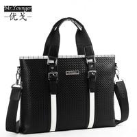 Genuine leather man bag male handbag shoulder bag messenger bag commercial briefcase laptop bag