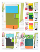 2013 New fashion luxury Hybrid Colors PU Leather Wallet Flip Stand Case Cover for samsung galaxy Note 3 III N9000 Free shipping