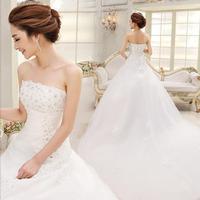 2013 New Fashion Lace Wedding High-quality Backless Wedding Dresses Sweet Bride Wedding Dress