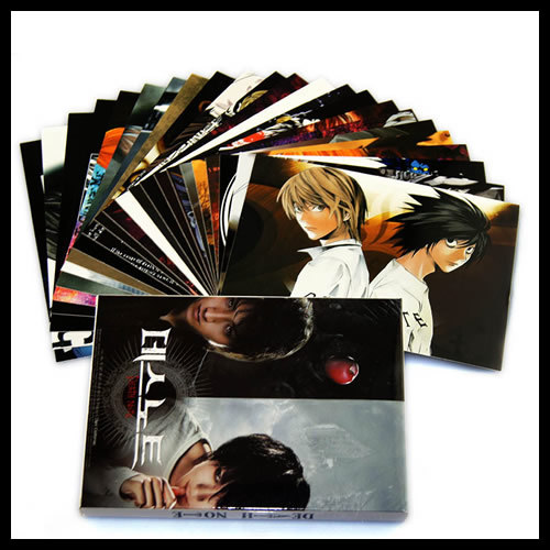 24 pcs/set Anime Death Note Postcards Greeting Cards Friends Birthday Christmas Postcard Gift,Top Quality Free Shipping!(China (Mainland))