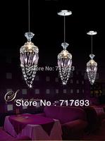 Modern Crystal  pendant light  Dining room Bar lamp Fashion lighting fixture 1light