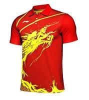 free shipping Li-Ning Men's London 2012 Olympic Games MEN T-Shirt Chinese Table Tennis/Badminton wholesale!