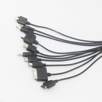 HOT-2013NEW, multi charger 10 in 1 universal USB Charging Cable,Free shipping