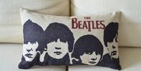 Reminiscence Retro beatles black and white lumbar pillow Linen Cushion Car Office Cushions Decor 30*50cm