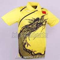 Free shipping Li Ning Man London 2012 Olympic Games T-Shirt Chinese national flag Table Tennis,Ping Pong wholesale!