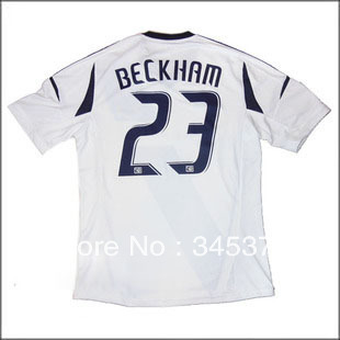 13/14 Los Angeles Galaxy home David Beckham 23# soccer jersey, Hot sell best thai qu