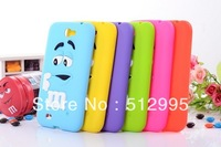 Great Smell Cute M&M Chocolate Rainbow Beans Case For Samsung Galaxy Note 2 N7100,  20Pcs/Lot Free Shipping