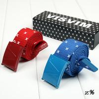2013 Charming Cute Best Gift For HIP-TOP Boys Visvim lengthen Canvas Belt Male strap Casual Strap Belt Decoration White Belt+Box
