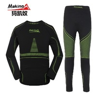 2013 autumen winter Makino men's outdoor seamless Bamboo quick-drying thermal underwear sports wamr thermal underwear suits