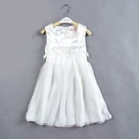 free shipping 110 120 130 140 150 girls elegant white princess flower party dress children brand quality evening dress