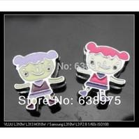 100pcs 8mm Happy Girl Slide Charms Fit 8mm wristband /belt