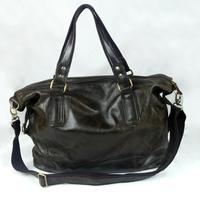 Vintage Oil Wax Leather Cowhide Genuine Full Grain Leather Handbag Shoulder Bag Messenger Bag Bags Handbags For Men Women B158