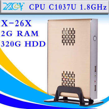 Horizontal Car PC Rack Aluminum Mini PC Metal Mini-ITX Chassis C1037U desktop computer XCY X-26X