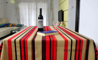Placemat red stripe 100% cotton fabric table cloth table cloth tablecloth gremial dining table cloth
