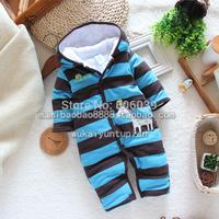 Winter children's clothing male infant cotton romper classic long-sleeve baby romper winter child romper
