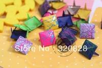 Free shipping 500pcs 12mm square mix colorful Brads DIY handicraft decorative scrapbooking embellishments craft nail metal brads