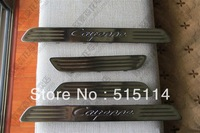 5 Plus Quality! Use for Cayenne 2011-2013  Duel tone Door Sills High quality stainless steel