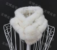 Neck warmer, natural real rabbit fur winter muffler scarf for women, multicolor girl's fur strips neck cover scarves pom pom